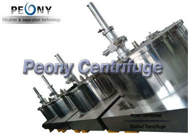 China PLC control High Performance Stainess Steel Polished Basket Scraper Bottom Discharge Pharmaceutical Centrifuge supplier