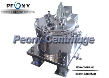 China Pharmaceutical Scraper Bottom Discharge Centrifuge , Bag Lifting Top Discharge Filter System supplier