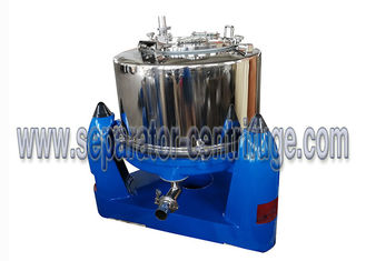 China Manual Unload Intermittent Operation Top Discharge Food Centrifuge with Clamshell supplier