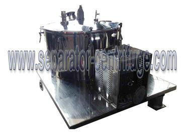 China PLC Control Manual Chemical Centrifuge , Plant Extraction Alcohol Solution Dewatering Centrifuge supplier