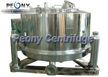 Bag Lifting Adjustable Speed Basket Centrifuge , Filter Equipment