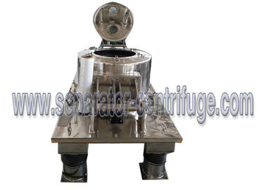 Hydraulic Scraper Bottom Horizontal Centrifuge Equipment / Perforated Basket Centrifuge