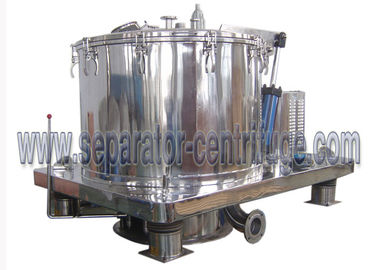 China Automatic Scraper Bottom Discharge Pharmaceutical Centrifuge / Perforated Basket Centrifuge factory
