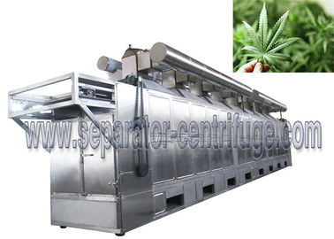China High Capacity Conveyor Mesh Belt Type Continuous Dryer For Leaves Drying factory