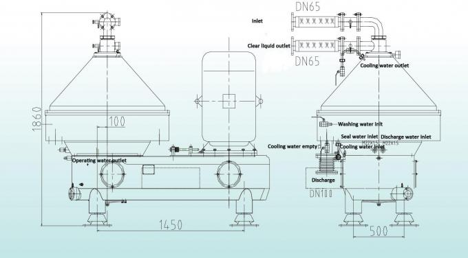 Advanced Structure 50000LPH Large Capacity Disc Stack Centrifuges for Solid Liquid Separation