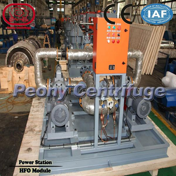 Land Power Plant Fuel Oil Handling System Separator , Marine HFO Treatment Module