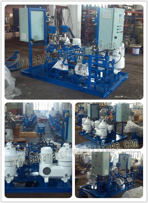 Disc Lubricating Oil Centrifugal Separator , Heavy Fuel Oil Centrifuge Filter System