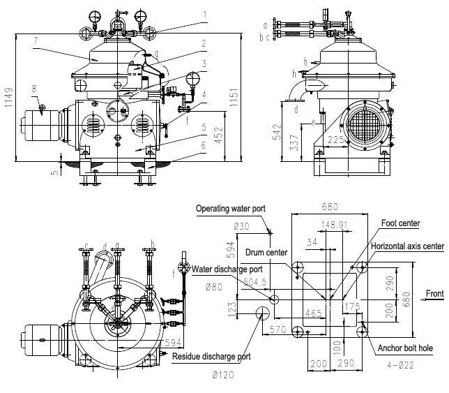 PBDSD30 Low Noise Automatic Centrifugal Separator / Biodiesel Oil Separator