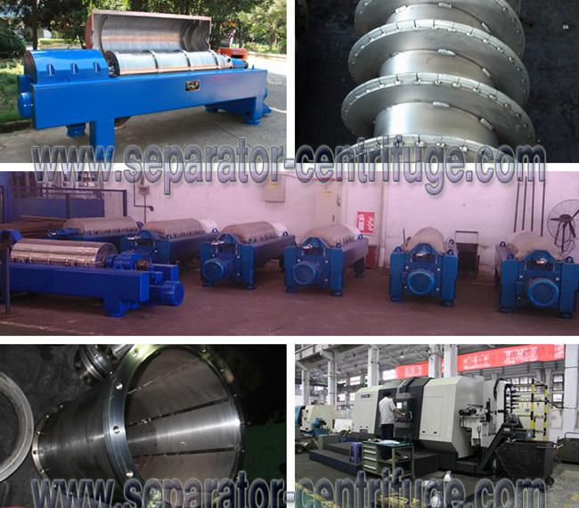 Anti-abrasive Solid Bowl Control Drilling Mud Centrifuge with Automatic Control