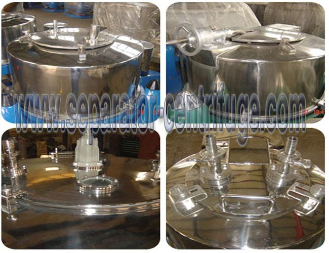 Industrial Vertical Basket Centrifuge Separator , Full Cover Extraction Machines