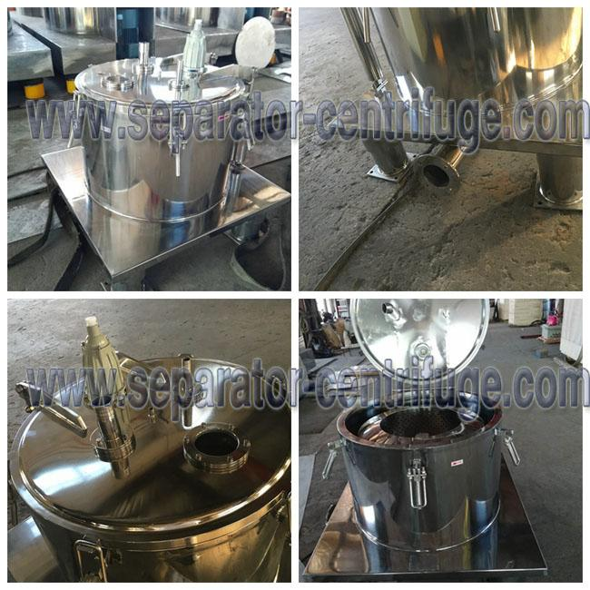 High Performance Stainless steel Ethanol Extraction Basket Centrifuge Machine For CBD