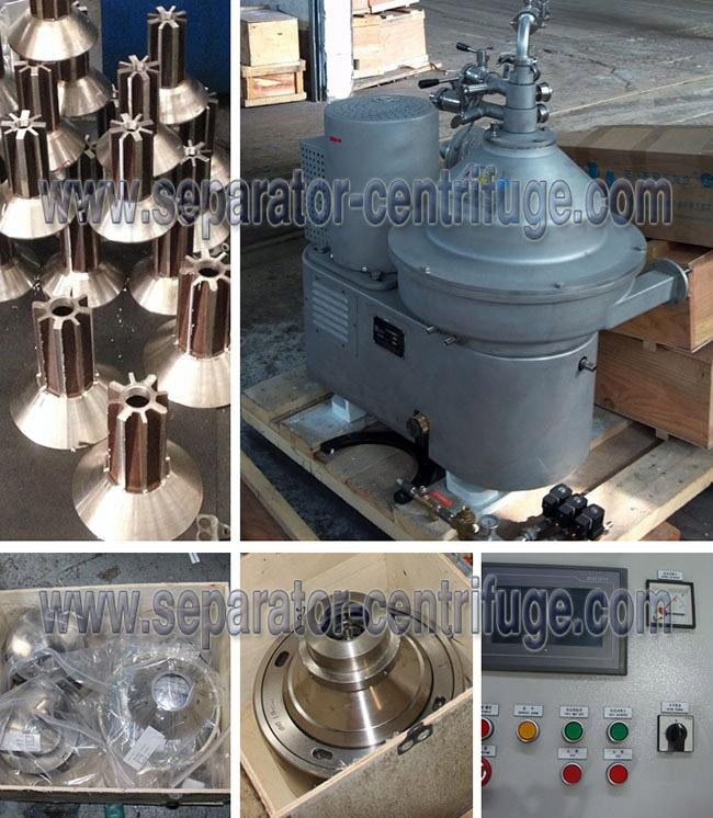 High Speed Water Purifying Disc Separator 3 Phase Vertical Centrifuge