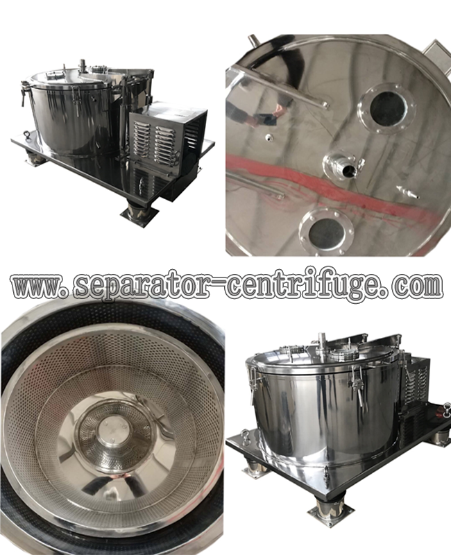 Flat Type Hemp Oil Ethanol Extraction Machine , Centrifuge Machine With Filter Bag