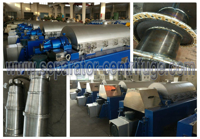 High Speed Scroll Discharge Decanter Industrial Centrifuge Salt Chemical