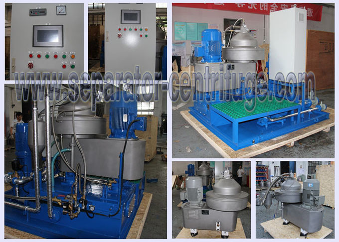Simple Automatic Skid Mounted Disc Bowl Centrifuge For Marine Fuel Oil Purifying