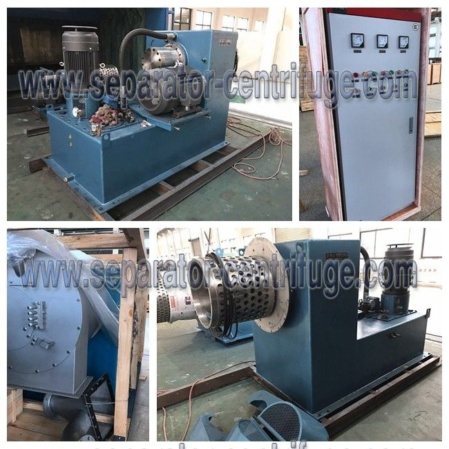 Model PP-100 Continuous Chemical Centrifuge Two Stage Pusher Centrifuge For Fumaric Acid