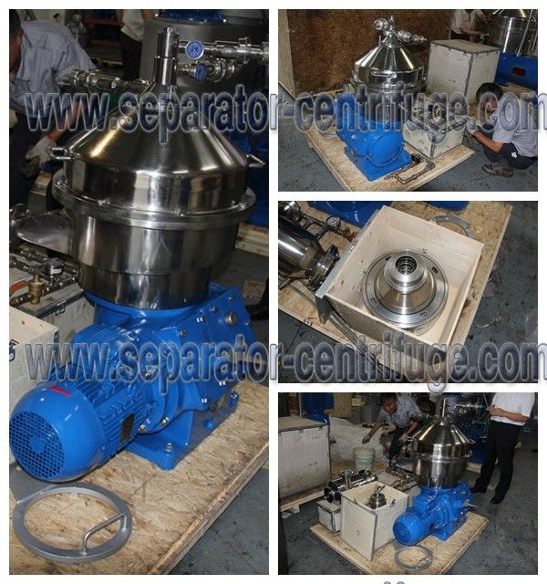 Automatic Part Discharging 2 Phase Dairy / Milk Clarifying Disc Separator For Clarifying Milk