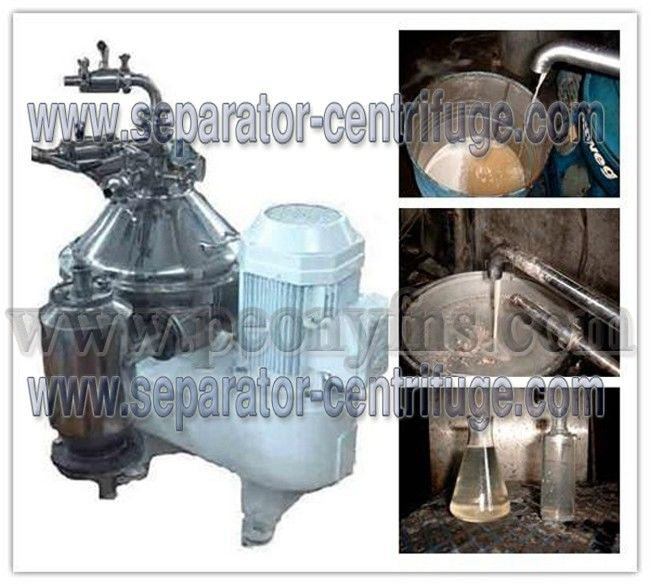 Verticle Type Self cleaning Coconut Oil Separator Centrifugal Separator with SKF Bearing