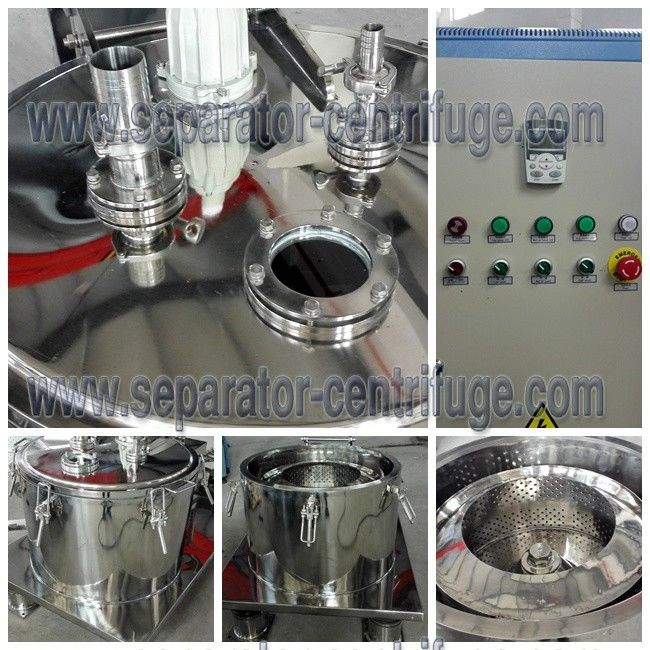 Industrial Extracting Oil From Plants Basket Type Centrifuge Equipment ISO