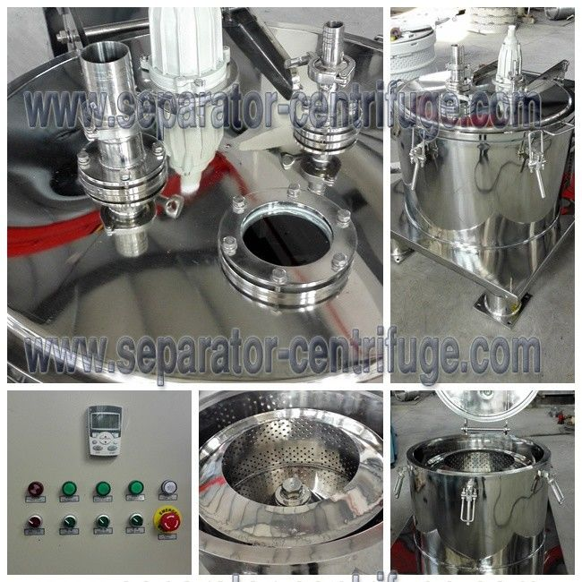 Batch Operate Menthol Extraction Basket Centrifuge with Control Cabinet