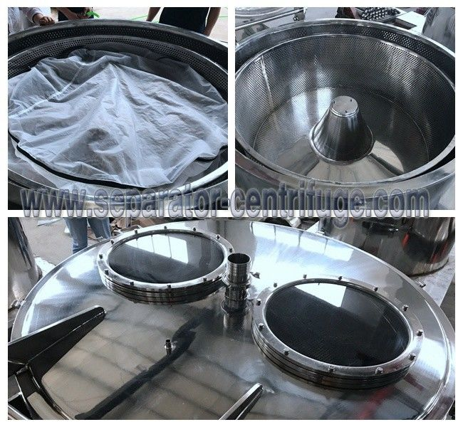 PLC Control Manual Chemical Centrifuge , Plant Extraction Alcohol Solution Dewatering Centrifuge