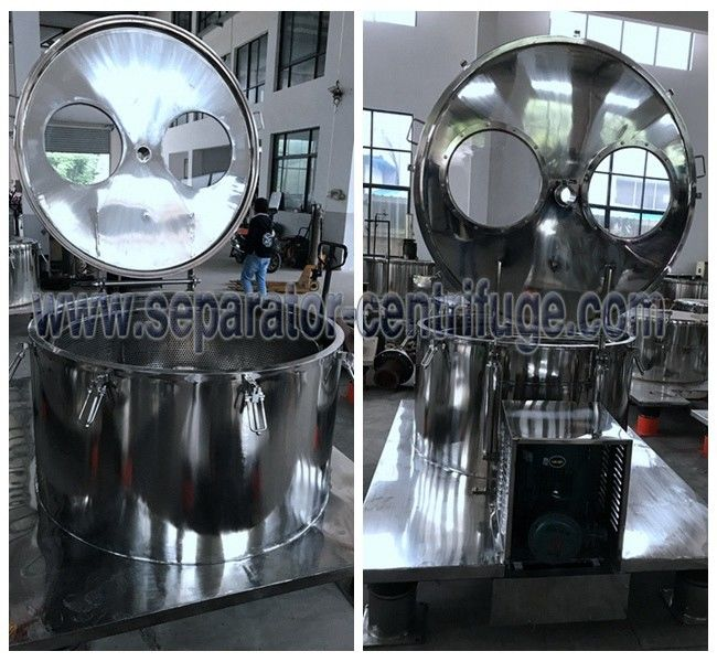 Model PPTD Stainless Steel Hemp Essential Oil Extraction Centrifuge Washing With Alcohol