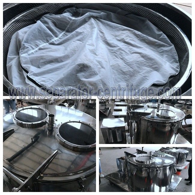 Model PPTD PLC Type Basket Type Centrifuge For Hemp Essential Oil Extraction