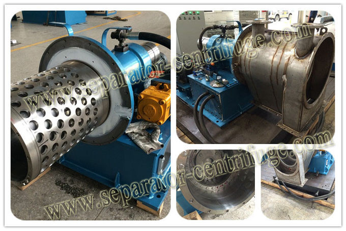 2-STAGE PUSHER CENTRIFUGE, continuously dewater and wash the slurry with crystal and fiber bigger than 50um