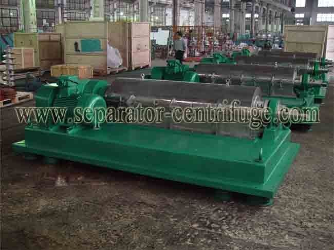 Sharples Solid Bowl Decanter Centrifuge Equipment for Chicken Manure Dewatering