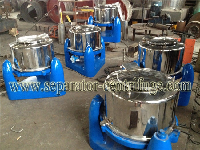 Manual Unload Intermittent Operation Top Discharge Food Centrifuge with Clamshell